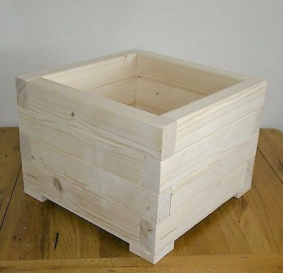 Large Square Wooden Wood Garden Plant Flower Herbs Basket Pot Planters Box Diy Wood Planters Garden Planter Boxes Wood Planters