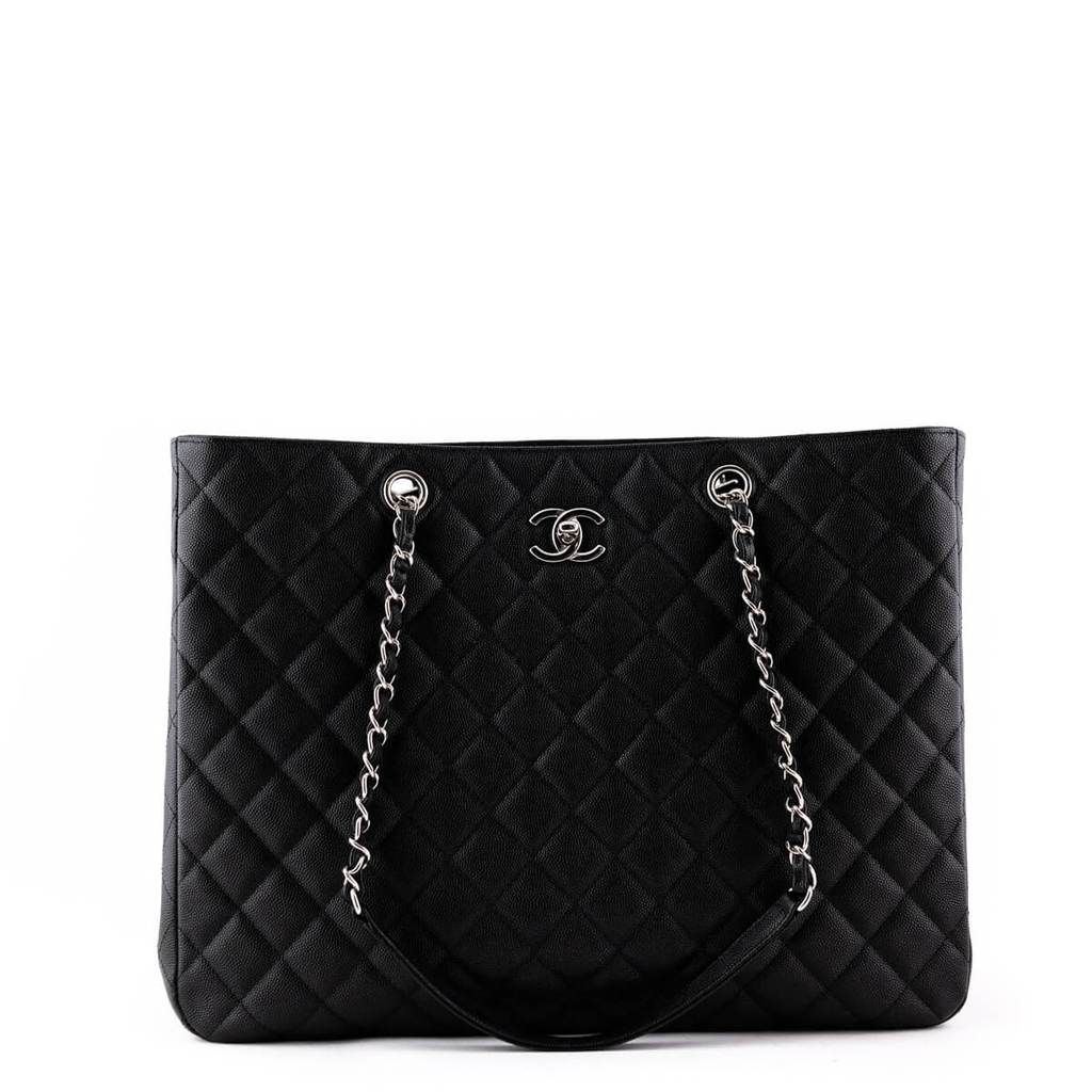 Chanel Black Caviar 2018 Timeless Tote Shw Preloved Luxury With