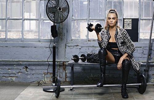 Cara Delevingne for Chanel.