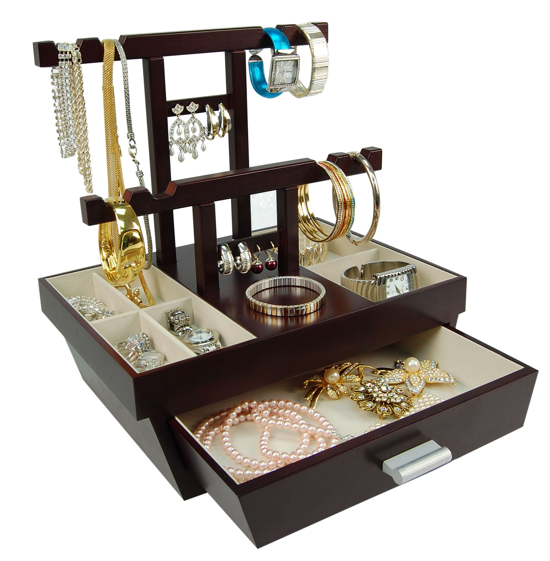 Jewelry Gift Boxes Walmart Glamorous Modern Design Jewellery Box With Earring Stand Jewellery Storage Inspiration