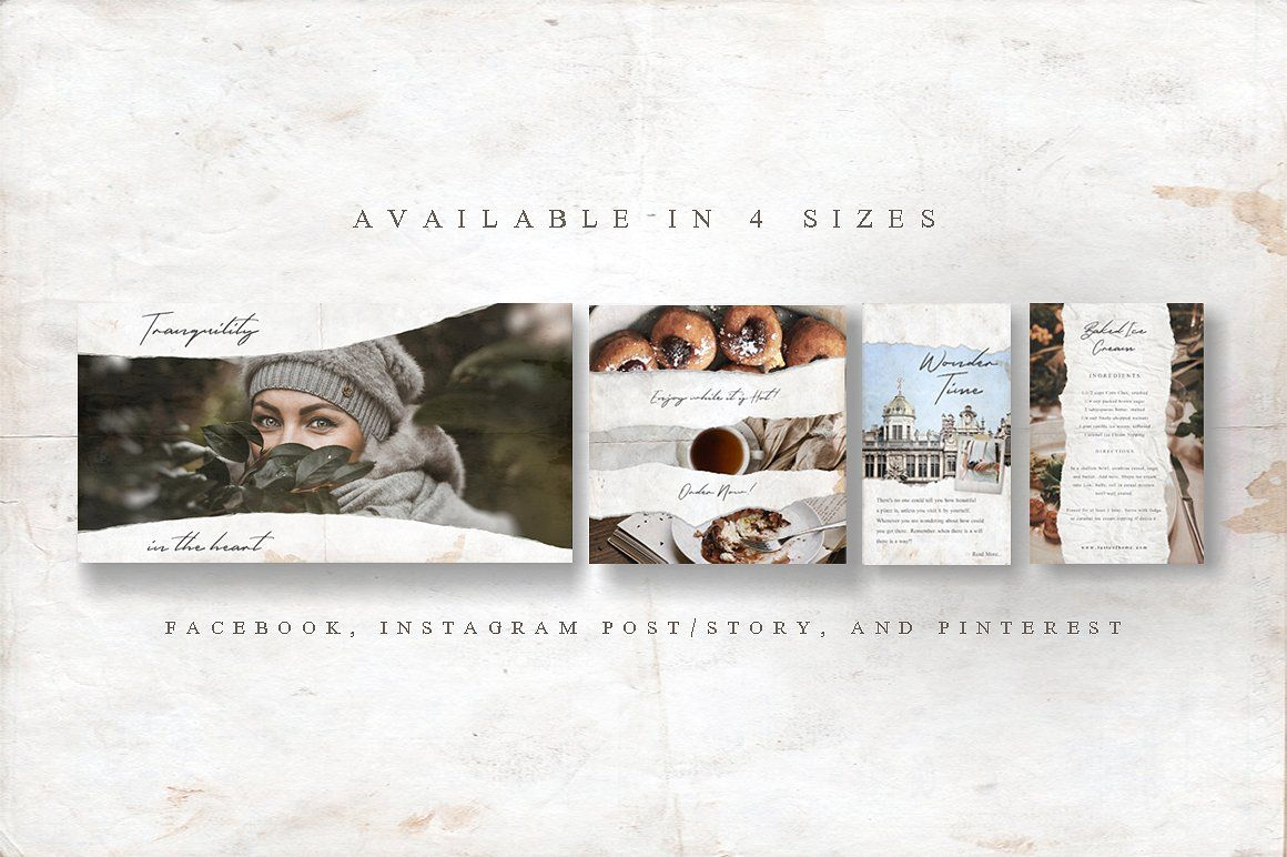 ANIMATED Rustic Paper Social Pack #template#ordinary#textures#intro