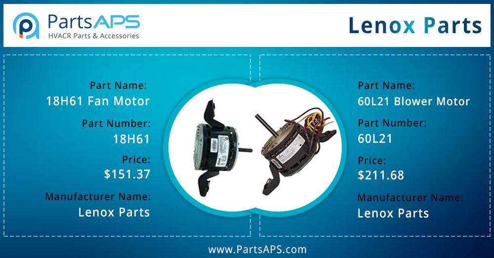 208/230V 1Ph 1/3HP 1075RPM Mtr For Lennox Part 18H61