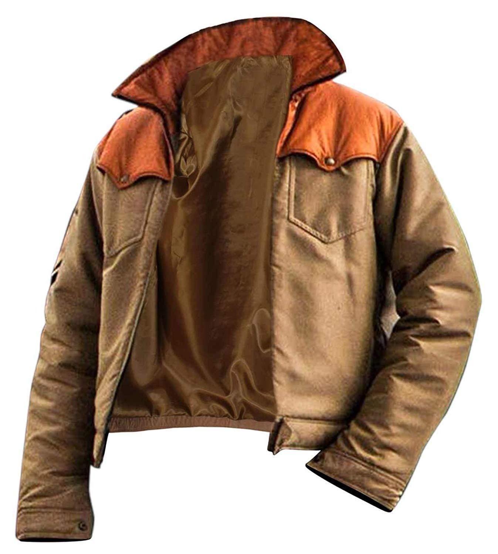 Kevin Costner Yellowstone John Dutton Cowboy Beige Cotton Jacket Leather Jacket Men Cotton Jacket Men Leather Jacket [ 1500 x 1347 Pixel ]