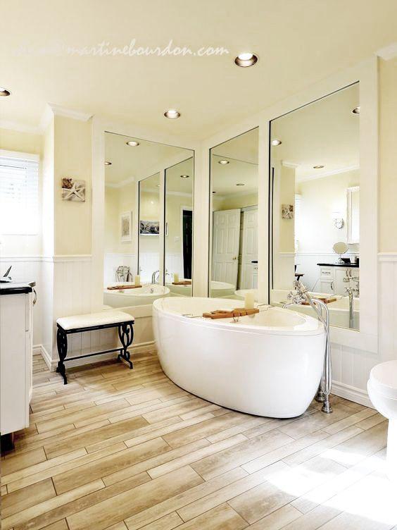 Une salle de bain aux accents champêtres colobar