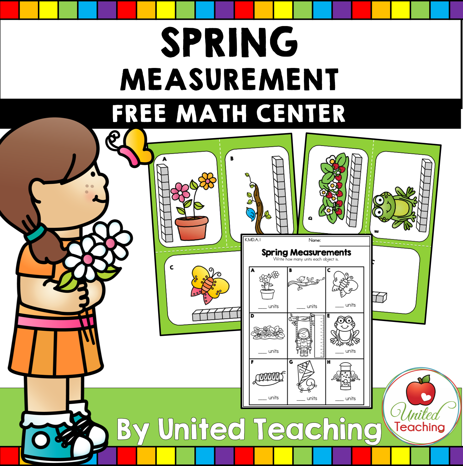 Spring Measurement Math Center Free In