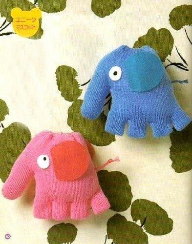 Elephant stuffed animal glove craft. Super easy! #glovesmadefromsocks