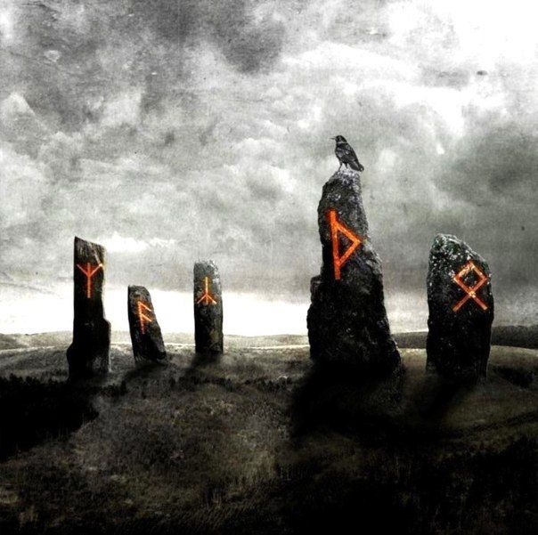 Runestones (very ominous looking, yes?) What makes the runes glow? Is it time of year, a person, blood? The bird?