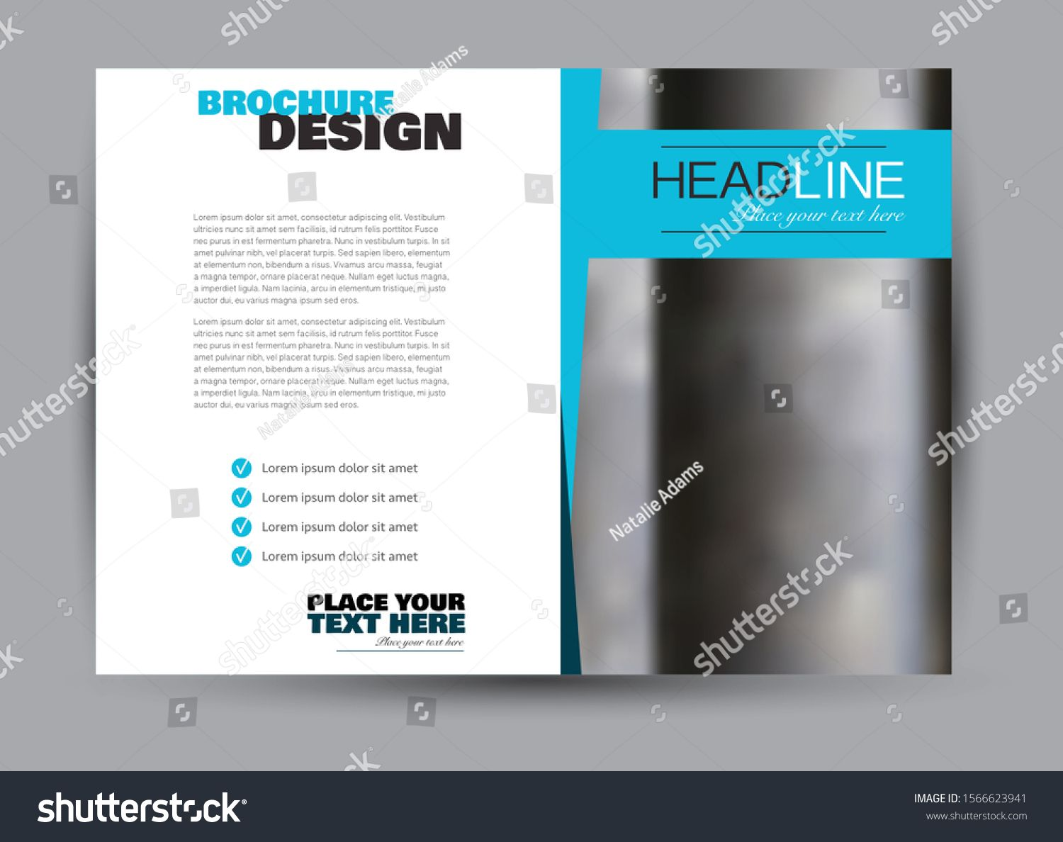 Landscape Wide Flyer Template Billboard Banner Abstract Background Design Business Educati Flyer Template Book And Magazine Design What Is Fashion Designing