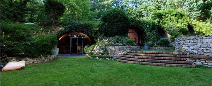maison bioclimatique enterr e etienne fromanger gone green pinterest maison bioclimatique. Black Bedroom Furniture Sets. Home Design Ideas