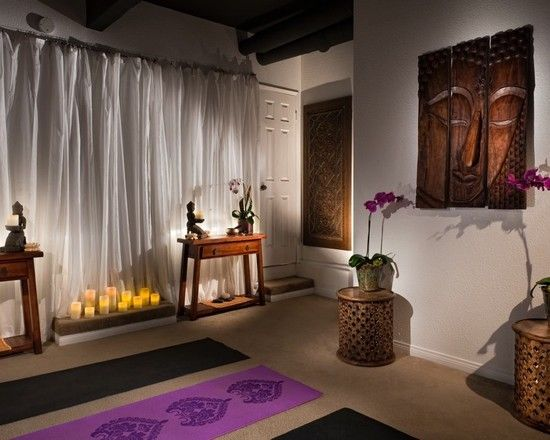 zen space home gym design, pictures, remodel, decor and ideas