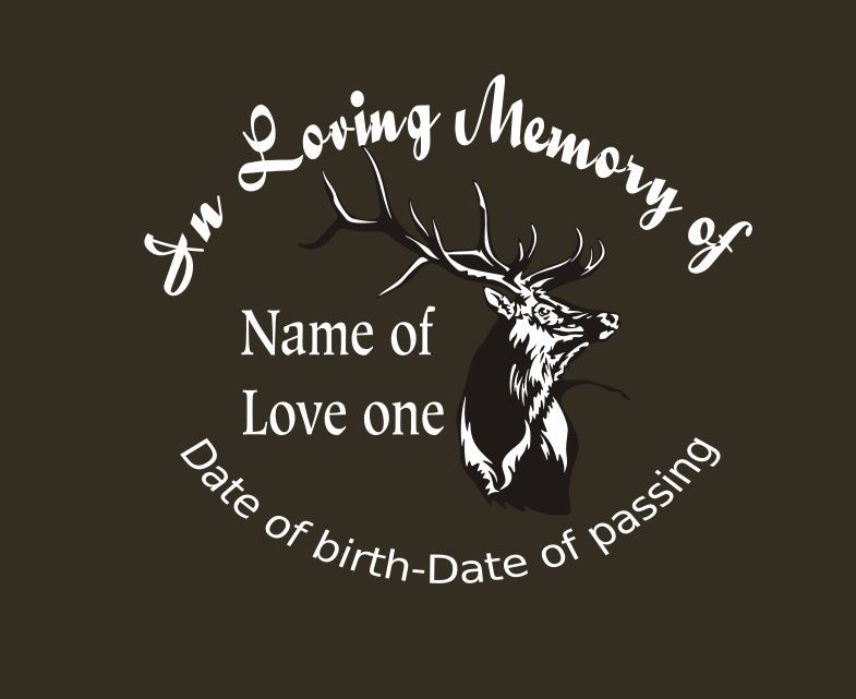 Hunting memory decal in loving memory car decal custom memory auto decal deer