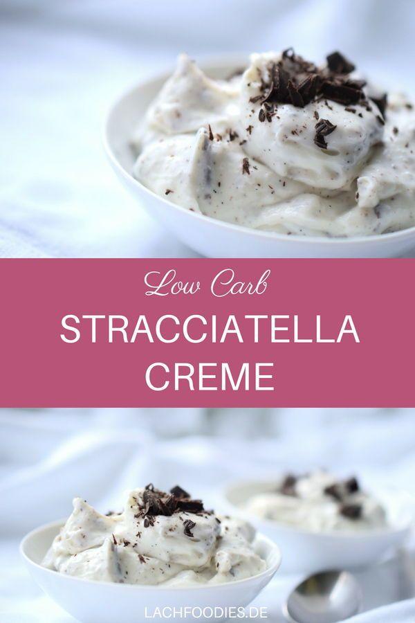 Unglaublich köstliche Low Carb Stracciatella-Creme