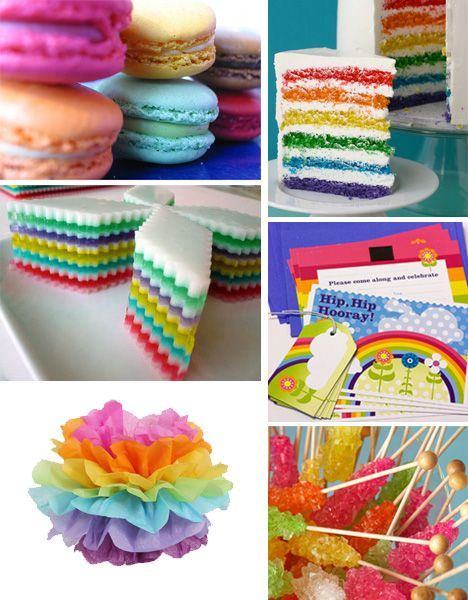 Im thinking rainbow themed for the first birthday party