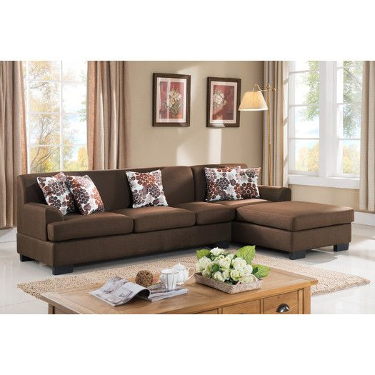 container reversible chaise sectional allmodern cabin rh pinterest com
