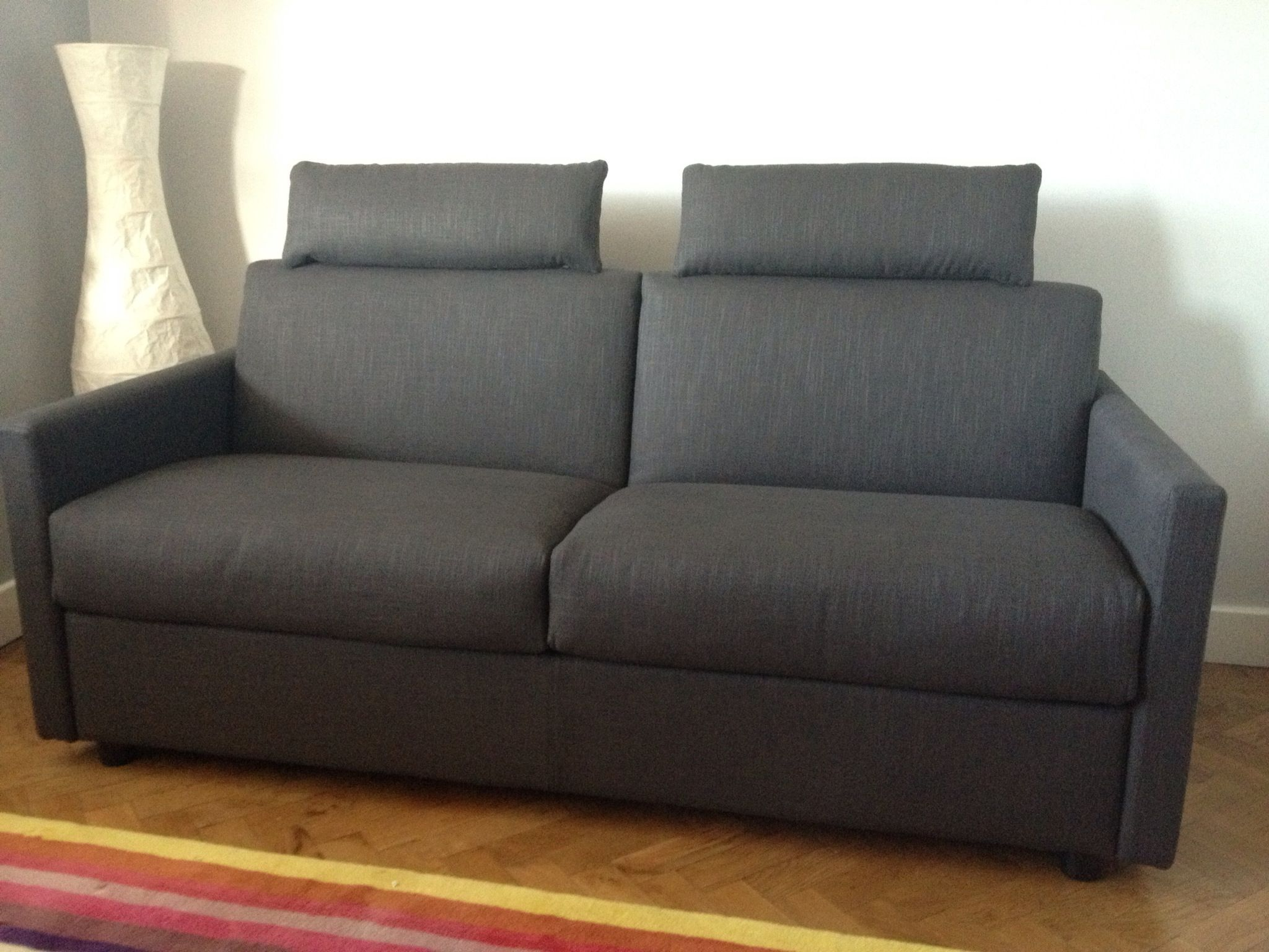 Lario 2 5 Seat Sofa Bed With 8 Cm Slim Arms And Headrests