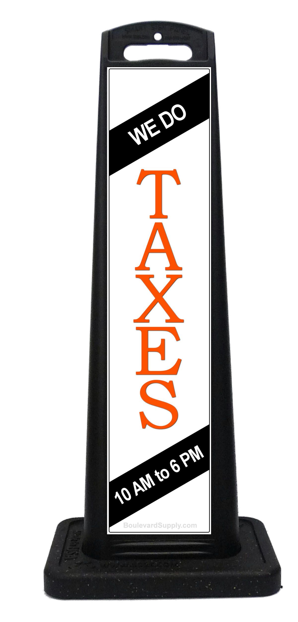 Custom sidewalk signs for #TaxPrep services. Tax business sign for ...