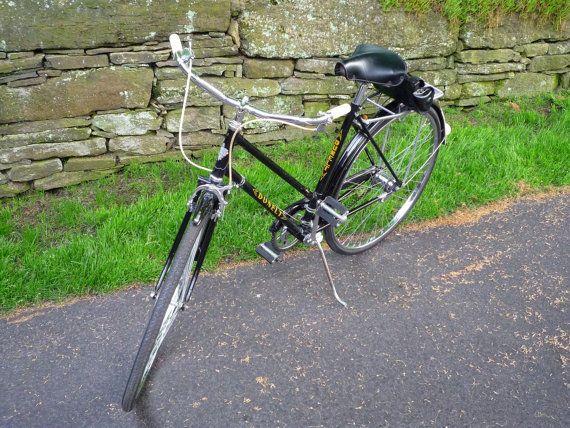 Vintage 1960s Dunelt English Bicycle Beautiful Original Etsy Bicycle Dunlop Tires Old Bikes