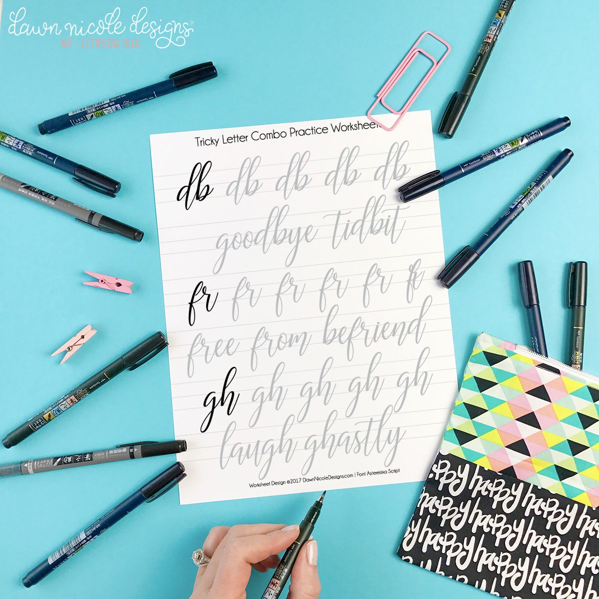 Tricky Letter Combo Practice Sheets: Set 1 | Calligraphy, Brush ...