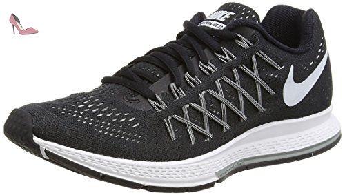 Nike Air Zoom Pegasus 32, Chaussures de Running femme, Noir (Black/White