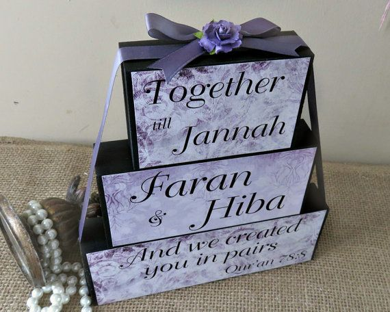 Muslim Wedding Gift: We Created You In Pairs Qur'an Quote, Personalized Muslim