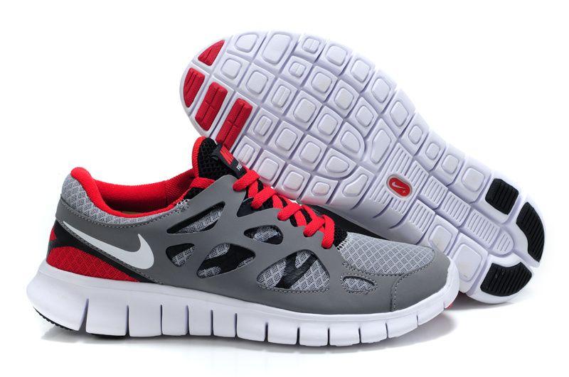 Nike Free Run 2 Hommes Gris chaussures oranges