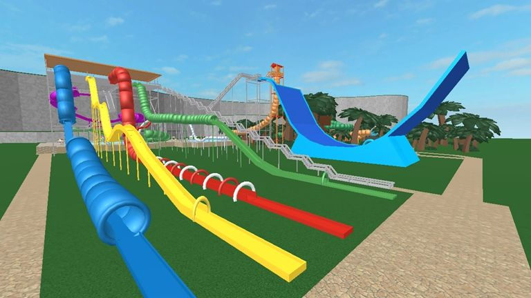 Water Park Roblox Water Park Roblox Slide Games
