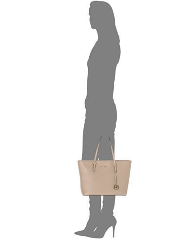 MICHAEL Michael Kors Jet Set Travel Top Zip Tote - Handbags & Accessories - Macy's