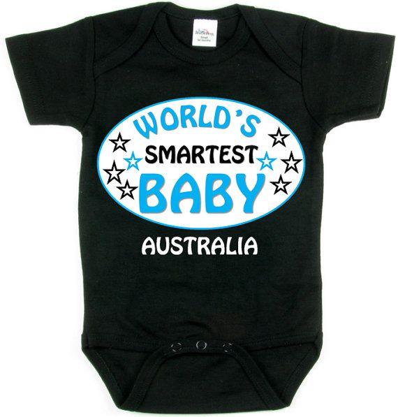 World's Smartest BABY_Australia  World's Smartest by SmartBabyTees, $19.99