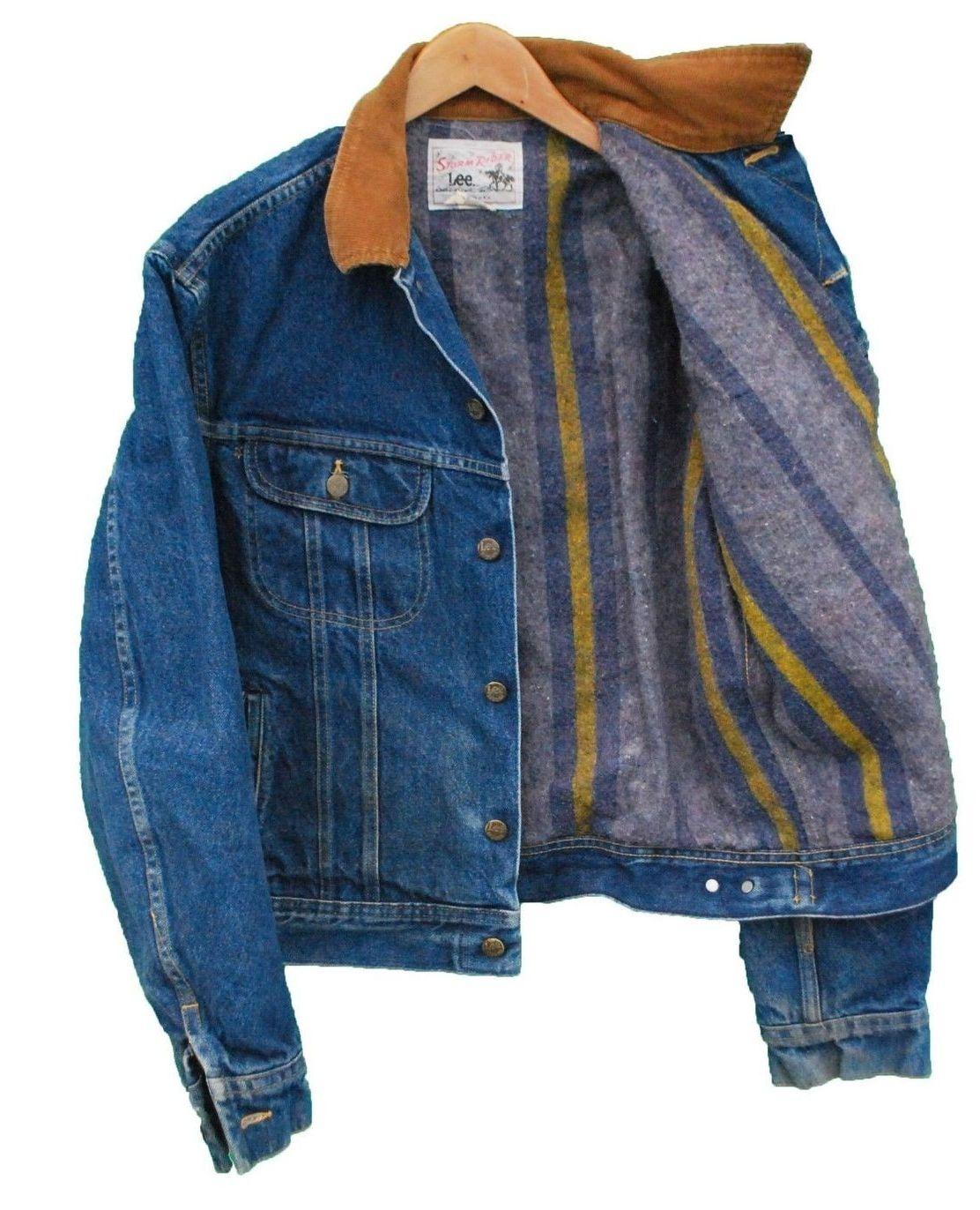 Blanket Lined Lee Rider Jacket Vintage Denim Jeans Lee Denim Jacket Denim Jacket [ 1372 x 1112 Pixel ]