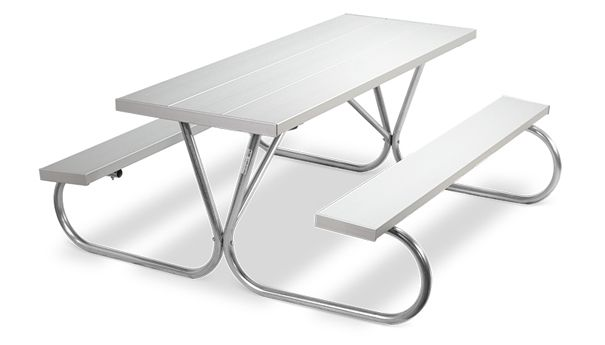 Model Pk 6aa Park Chief 8ft Aluminum Picnic Tables Anodized Aluminum Aluminum Table Table Picnic Table