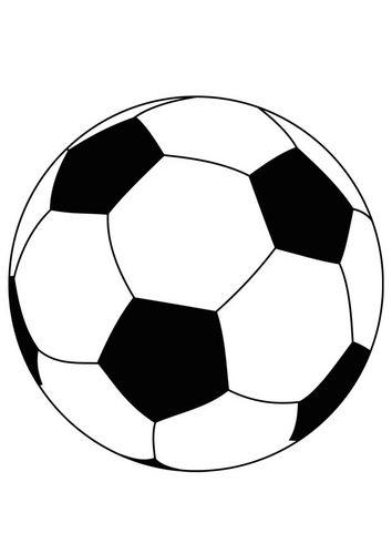 Kleurplaat Bal Voetbal Voetbal Wk Voetbal Voetbal