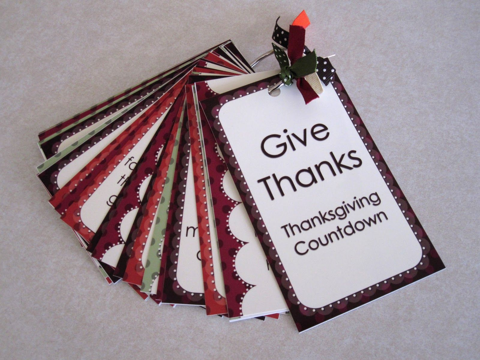 Everyday Celebrations Give Thanks Countdown Cards