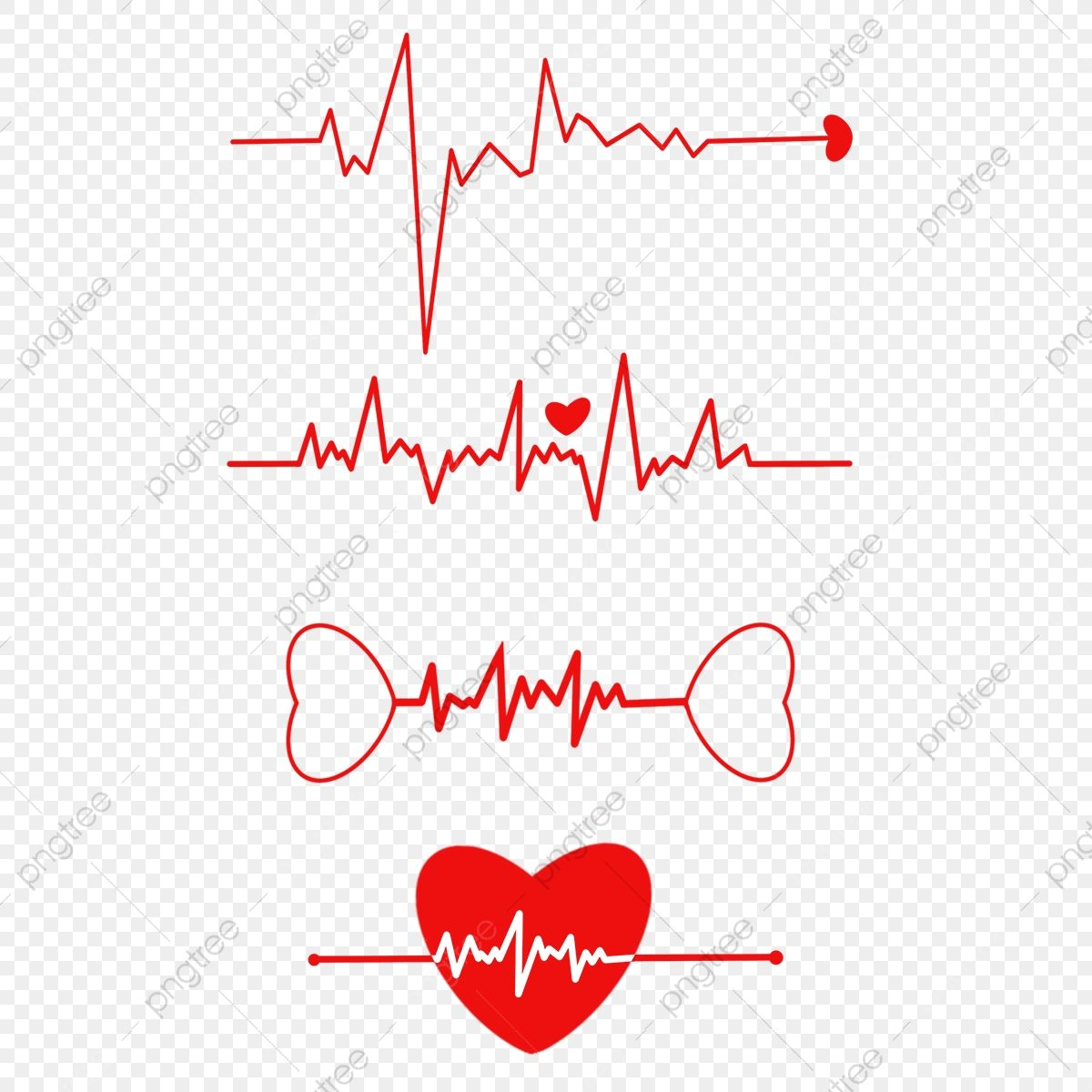 القلب الأحمر القلب نبض القلب المرسومة معدل ضربات القلب تخطيط القلب الكهربي Png وملف Psd للتحميل مجانا Red Heart Red Heart