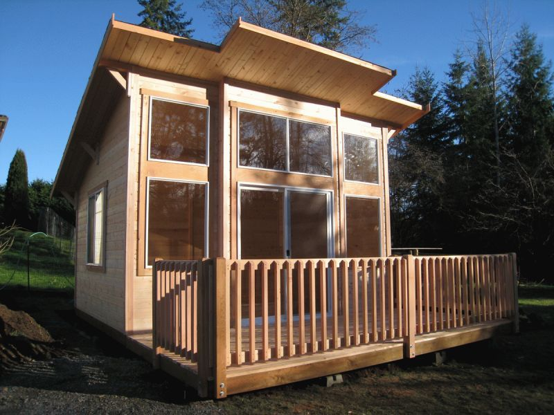 Best Shed Roof Post And Beam Cabin Nicest 12X6 Cabin Kit Yet 400 x 300