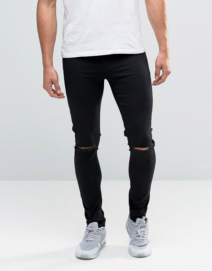 Louis Holtkamp Nike Air Max 90, Topman Cut Out Black Jeans