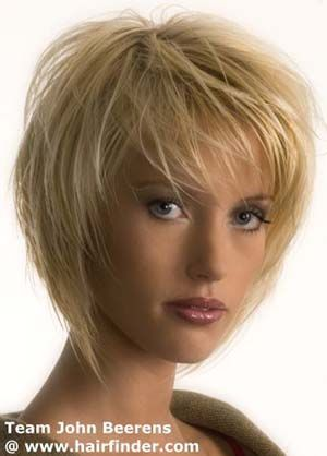 Carre Plongeant Court Effile Peinados Short Hair Styles Hair