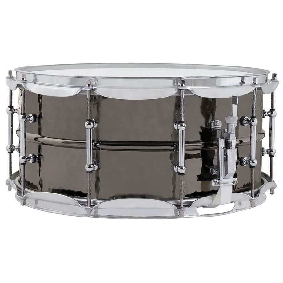 Ludwig 6.5x14 Hammered Black Beauty Snare Drum