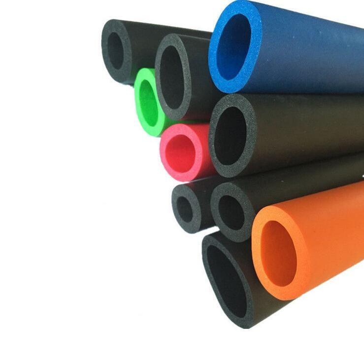 Details Of Colorful Sponge Tube Plastic Fabrication Rubber Molding Foam