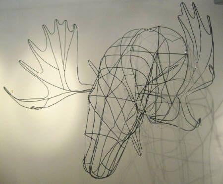 'Moose' wire sculpture by Kai Turcotte   Hambleton Galleries 1290 Ellis Street, Kelowna BC 250-860-2498 www.hambletongalleries.com