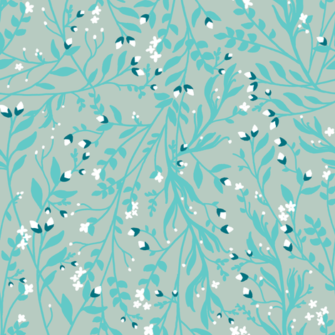 Snow Flower fabric by thistleandfox
