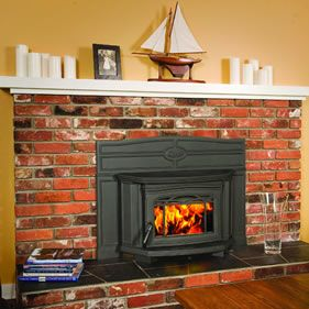 Pellet Fireplace Inserts For Fireplace Furniture Heat Source Using Old Brick Fireplace In Suite Off Kitchen At Farm Kamineinsatz Kamin Holz