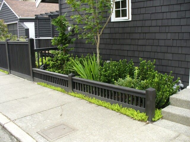 Low fence | Small garden fence, Fence design, Front yard fence