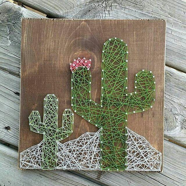 diy cactus en ficelle color e etagete pinterest ficelle cactus et diy. Black Bedroom Furniture Sets. Home Design Ideas