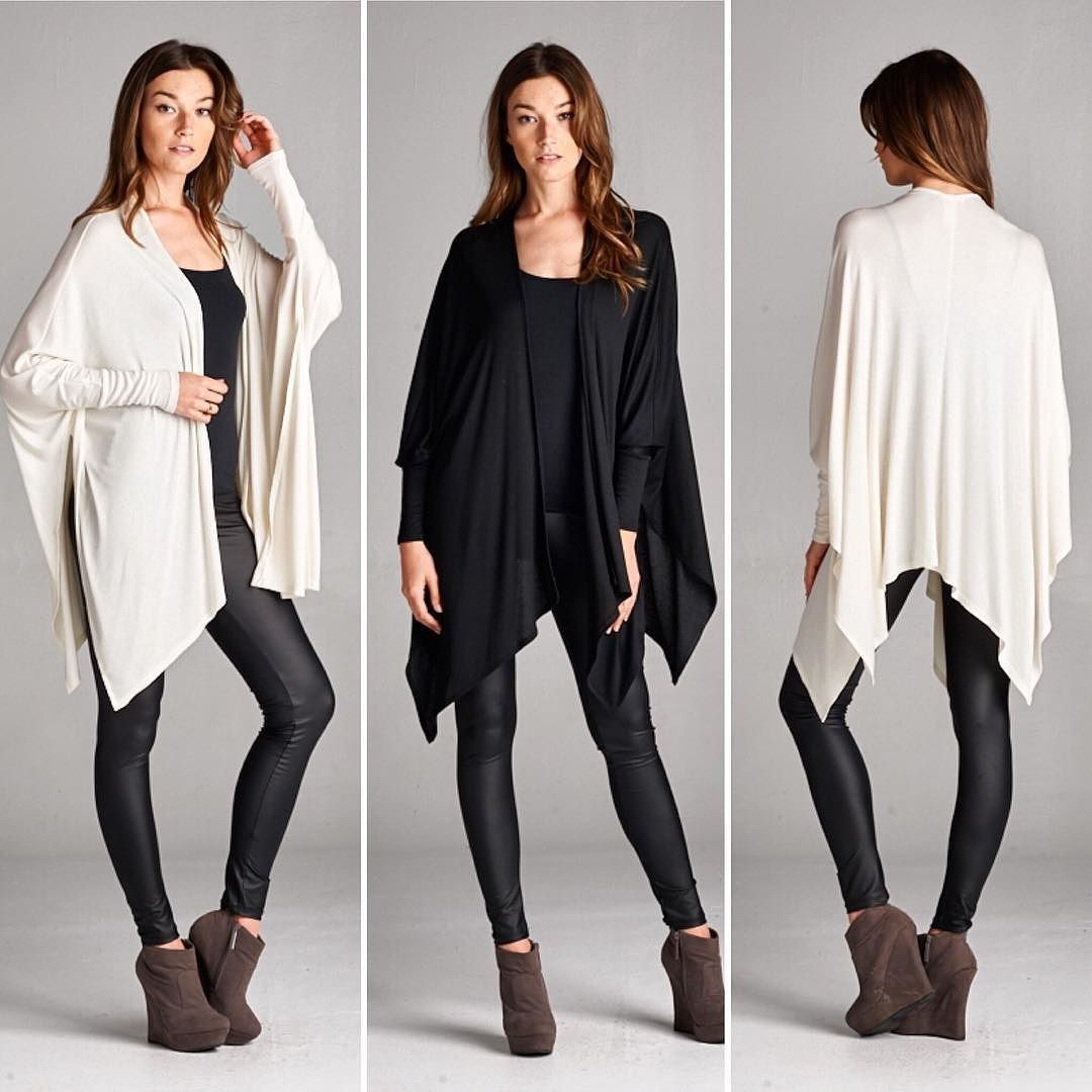 T17034 Loose fit long sleeve open closure cardigan. Drop shoulder ...