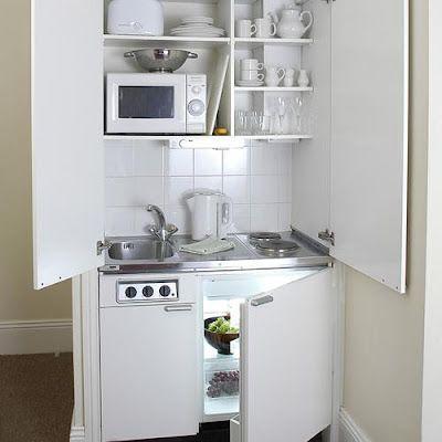 Muebles y decoraci n de interiores kitchenette o mini cocina para peque as viviendas ver - Muebles plegables para viviendas pequenas ...