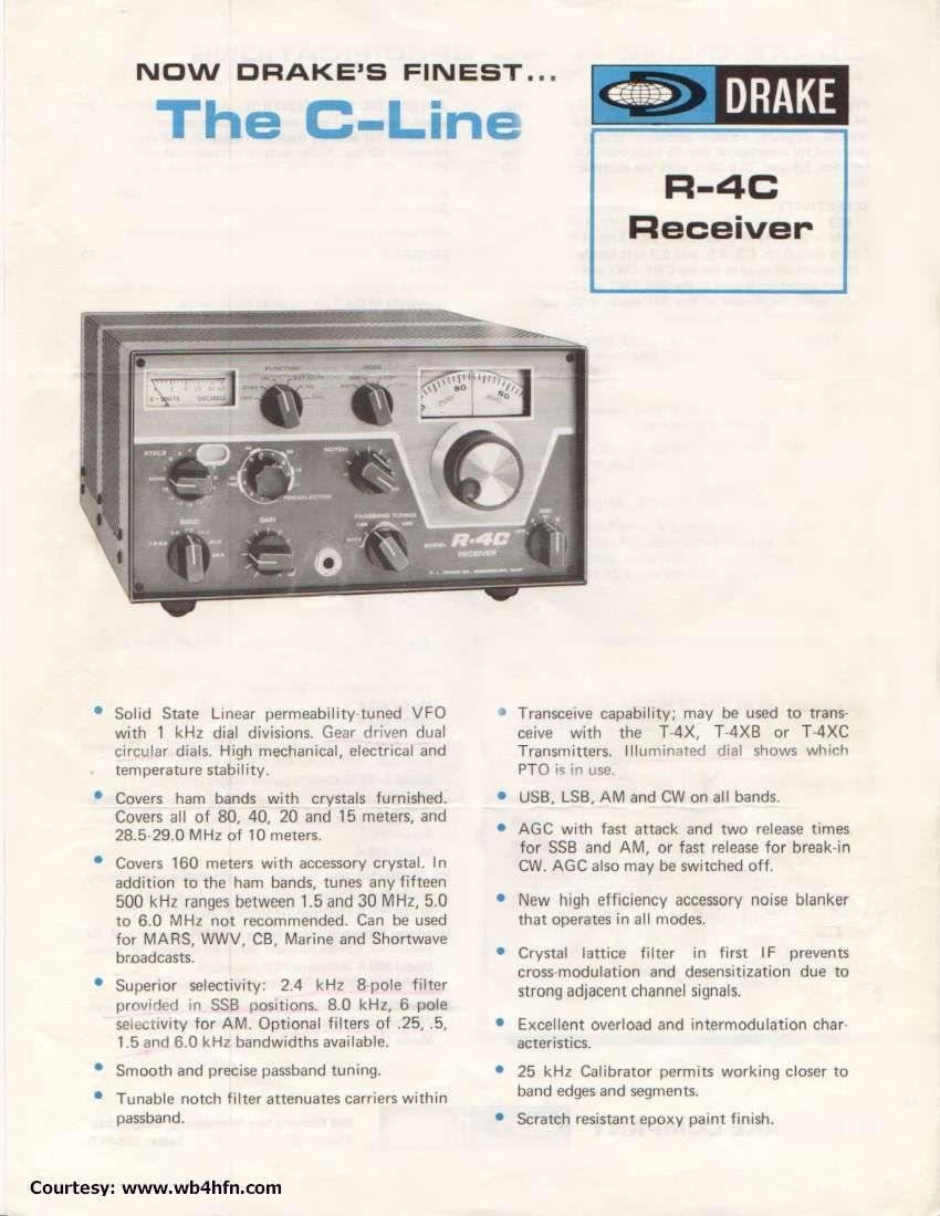 R4C receiver (1974) I had the c-line | Radio Communications