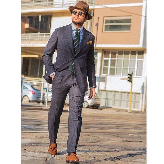 mnswrmagazine:Style by @fabioattanasio wearing a @angelico_collezione flannel suit / Ph. Enrico Magri || MNSWR style inspiration || www.MNSWR.com