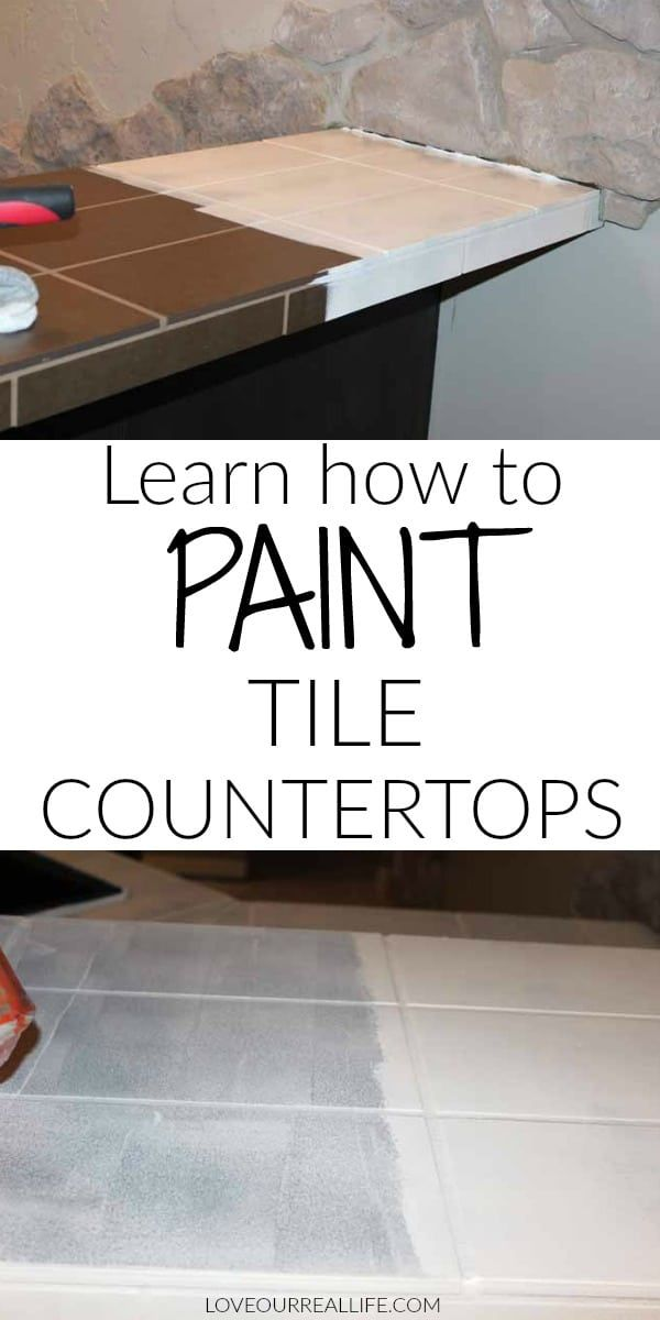 How to Paint Tile Countertops / Before and After ⋆ Love Our Real Life