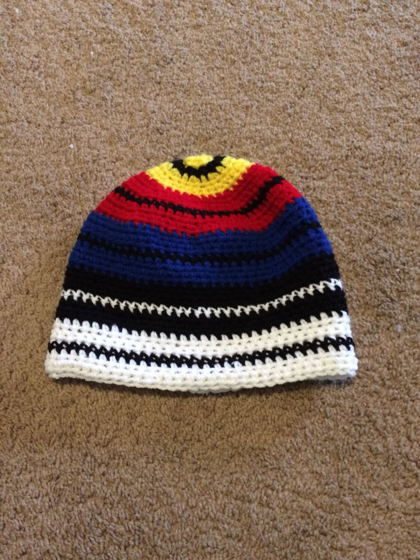 6c4c39771 I made this archery target hat today by writing my very first ...