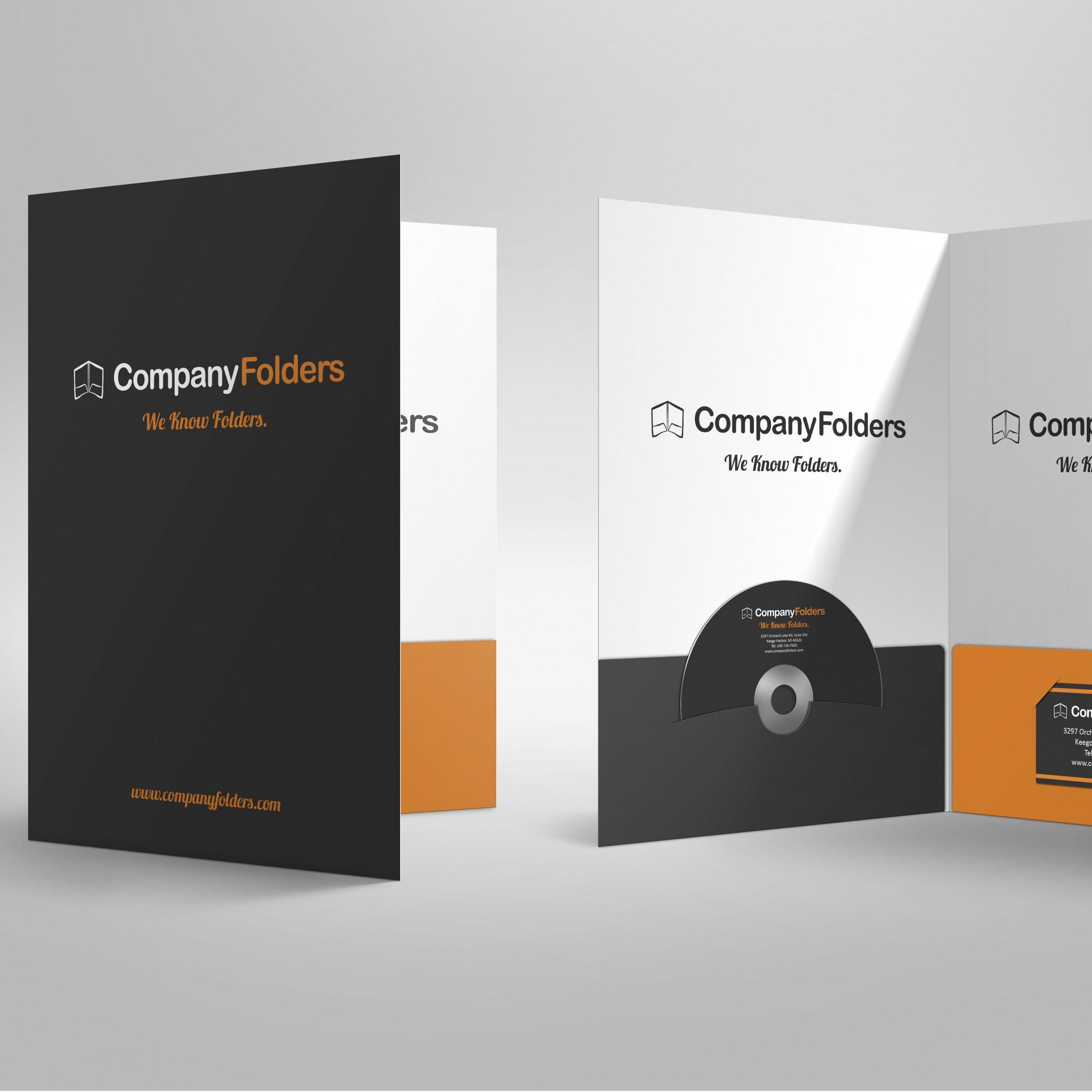 Custom paper presentation folders